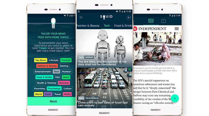 Discover SQUID: the first news app for Millennials